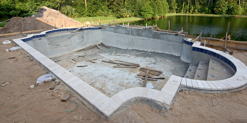 Concrete Pools in Lake Norman, North Carolina