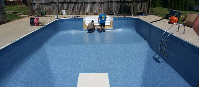 Swimming Pool Liner Installation in Lake Norman, North Carolina